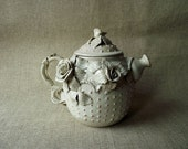 Teapot   MADE TO ORDER White Alice in Wonderland