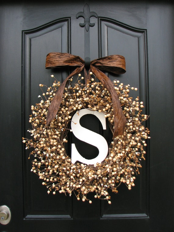 Items Similar To Personalized Wreaths Wedding Wreaths