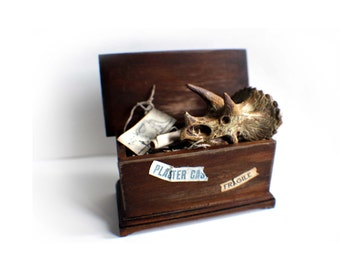 Miniature Museum Crate + Dinosaur Skull