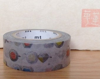 mt washi masking tape - cut - jewels