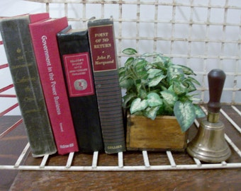 Instant Collection of 4 Black, Gray, and Red Vintage and Antique Books