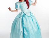 Aqua Mermaid Princess Ballgown