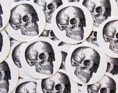 Stickers Skull Goth Halloween Envelope Seals Party Favors Treat Bag Stickers Pirate Party Theme SPH002