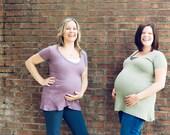 Organic Maternity Swing Top in Plum (Medium) - Love Your Mother
