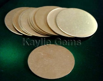 4pcs 1 inch 25mm raw brass 22 Gague Circle Round Blank Disc For Jewelry Stamping- Hight Quality, Made in USA