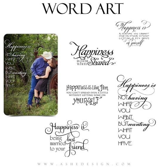 inspirational word art quotes photo overlays for scrapbooking