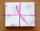 """Small Gift Wrapping Paper // Scattered Hearts - 12.5"""" x 18.75"""""""