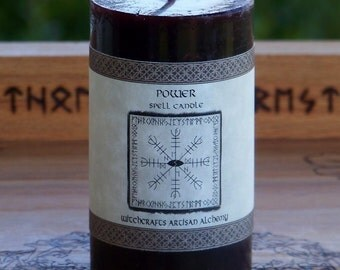 POWER Signature Spell Candle by Witchcrafts Artisan Alchemy w/ Dragon's Blood, Amber & Ginger