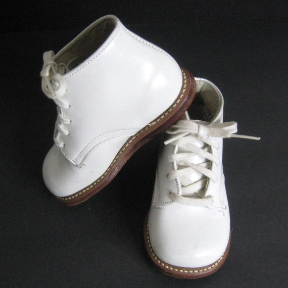 Stride Rite Baby White Leather Shoes