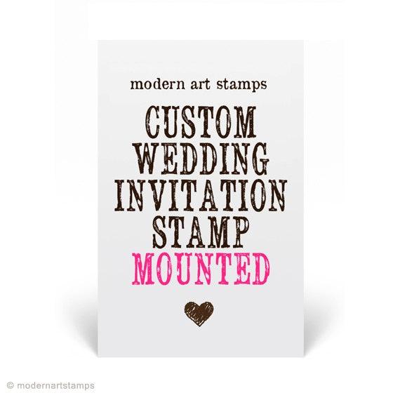 Wedding Invitation Stamp Wedding Stamp By Modernartstamps