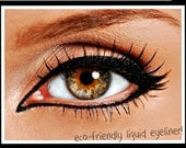 All Natural Liquid Eyeliner with Felt Tip Brush Applicator  Organic ingredients   Easy to Use   in Intense Black