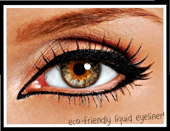 All Natural Liquid Eyeliner with Felt Tip Brush Applicator