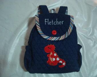 Boy's Backpack  Lil' Roar in navy