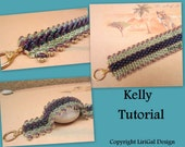 Kelly Superduo Triangle beads Beadwork Bracelet PDF Tutorial
