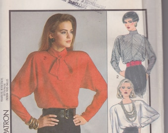 Style 4861 Misses' Blouses and Neck Tie Sizes 12, 14, 16 Vintage UNCUT Pattern Rare and OOP