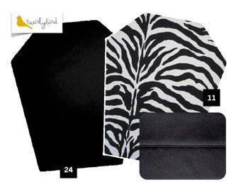Reversible Mei Tai Carrier - Zebra Print and Pure Black