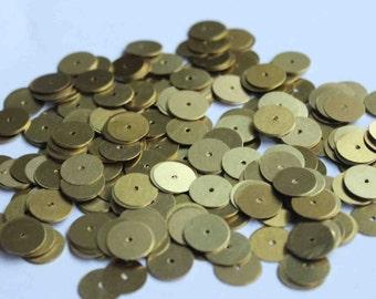 50 Round Golden Color Sequins/100% Metal base/KBMS546
