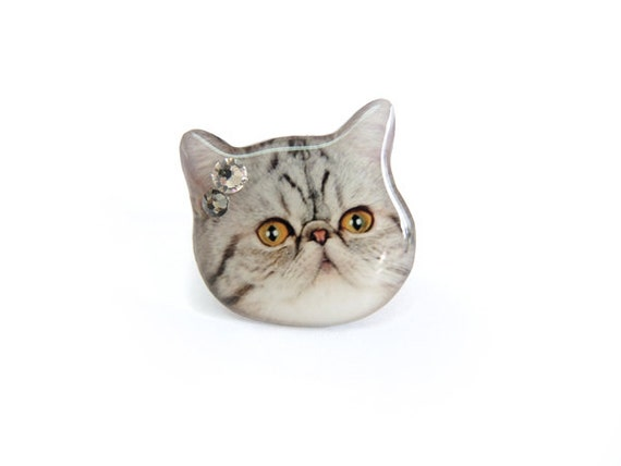 Exotic cat head ring - A0010-R C41 Made To Order