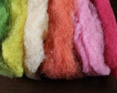 Plant Dyed Wool Roving Fiber for Spinning or Felting