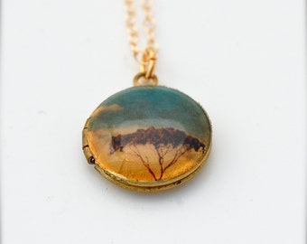 Vintage Locket Tree Under a Blue Sky Mini Size