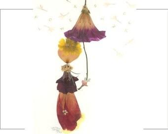 FLOWER SHOWER Notecard