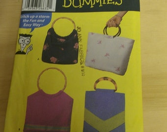 Handled Tote Bags Sew For Dummies Simplicity 5567
