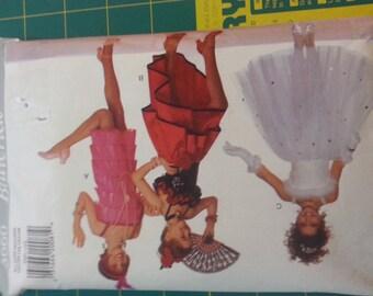 Girls Costume Ballerina Princess Flapper Spanish Dancer Multi Size Butterick 3660