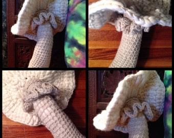 Crocheted Wool Mushroom Plush OOAK