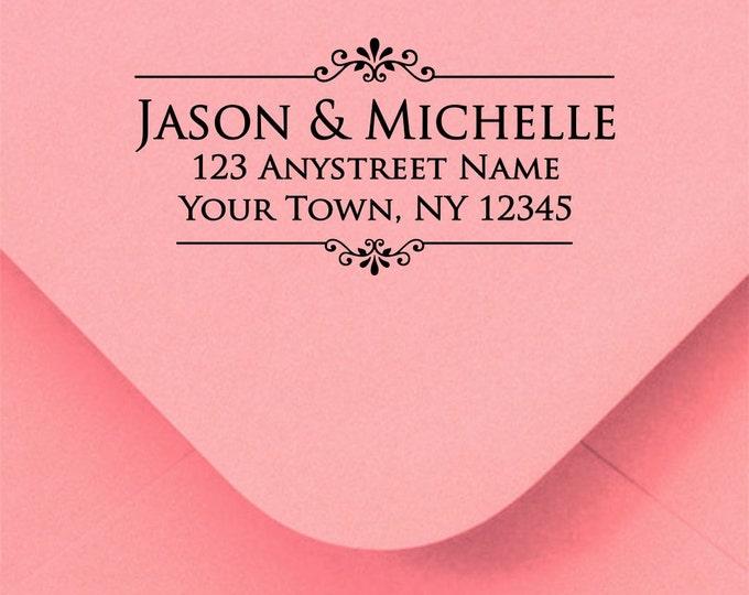 Self inking address stamp - Address stamp self inking - return address stamp - wedding gift - housewarming gift - realtor gift - R189