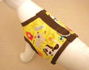 Yellow Dog Themed Harness Vest