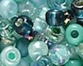 6/0 Miyuki Round Beads - Teal Mix - 20 grams