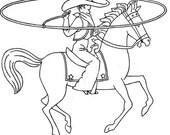 Vintage Embroidery PATTERN 3709 Cowboy motifs Bronc Rider Roper Cattle Brands Horses PDF instant download