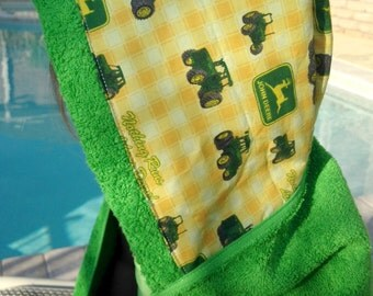 Green John Deere Hooded Toddler Towels brand