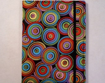 Kindle Cover Hardcover, Kindle Case, eReader, Kobo, Nook, Nexus 7, Kindle Fire HDX, Kindle Paperwhite, Nook GlowLight  Multi Color Circles