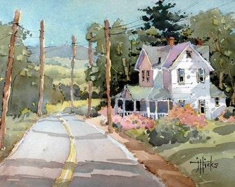 Laurel Mountain Farm Art Print