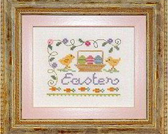 Lizzie Kate - A little Easter - Counted Cross Stitch Pattern, Fabric, Embellishments