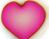 Pink Heart Clay Cane - Polymer Clay Heart Cane - Pink Ombre Heart Clay Cane