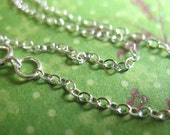 Shop Sale..1 pc, 16 or 18 inch, Silver Chain, Necklace Chain, 2X1.5 mm, Sterling Silver, Finished w/ spring ring clasp, done solo d66.d hp