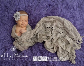 Brown Lace and Striped Drape Newborn Photography Props, Layers, Blanket Newborn Photo Props, Baby Photo Props, Baby Wrap Props, Girl Props