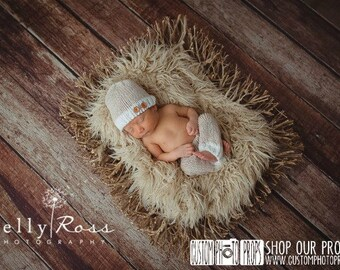Macadamia Nut Summer Soft Newborn Pants Photography Prop with Matching Hat, Baby Boy Props, Newborn Pants, Photo Props, Handmade Clothing