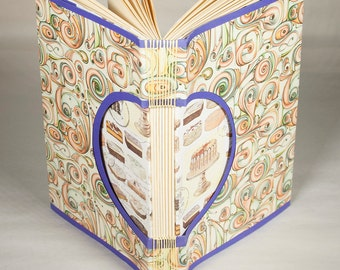 Blank Journalor Guestbook with Beautiful Italian Paper