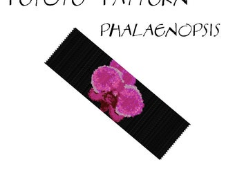 Peyote Bracelet Pattern by Extrano - PHALAENOPSIS - 7 colors ONLY - Instant download