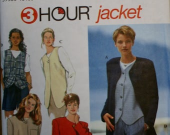 Simplicity 9361 Misses Jackets and Vests Sewing Pattern New/Uncut Size12,14,16