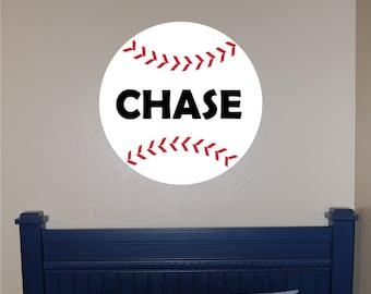Personalized Baseball Wall Decal - Baseball Name Decal - Sports Wall Decal - Baseball Wall Decal - Boys Wall Decal - Baseball Decal