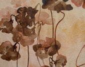 Watercolor Original Painting - O.O.A.K - Original Watercolor - Autumn flowers