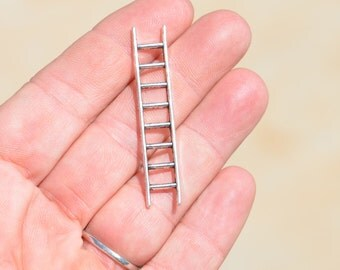 5  Silver Ladder Charms SC1849