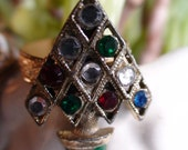 60s Adorable Christmas Tree Cocktail Ring
