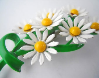BOUQUET OF DAISIES brooch, vintage 1960s