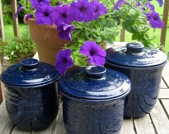 kitchen canisters, navy