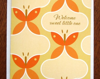 Baby card, Welcome Sweet Little One